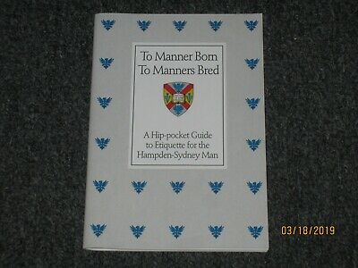 To Manner Born To Manners Bred ETIQUETTE The Official Manor Preppy Handbook L@@K