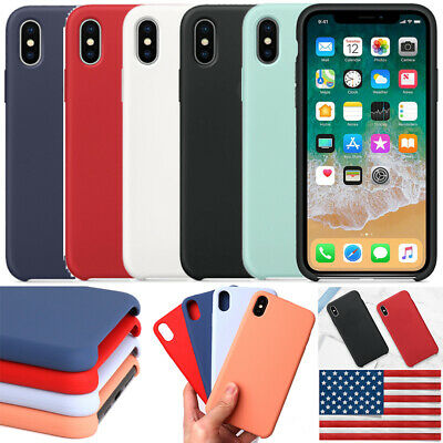 Luxury Silicone Genuine Back Case Cover For Apple iPhone 8 Plus 7 Plus XS Max XR