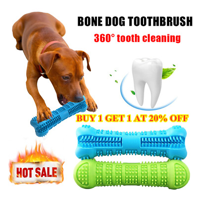 Pet Dog Bone-shape Toothbrush Brushing Chew Toy Stick Teeth Cleaning 360° Care~~