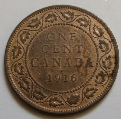 1916 Canada Large Cent Coin. NICE GRADE (RJ317)