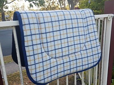 "Kersey Wool Stock Saddle Cloth / Pad / Blanket large size 27""x 36 "" Aussie Made"