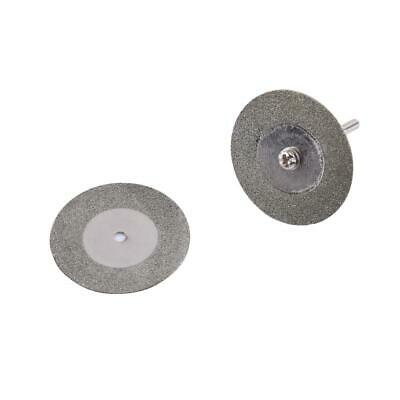 10pc Mini Diamond Grinding Wheel Disc Cutting Angle Grinder Metal +2 Mandrel