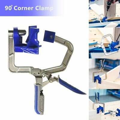 Furniture 90 Degree Right Angle Corner Clamp Woodworking Clamping Hand Tool D@