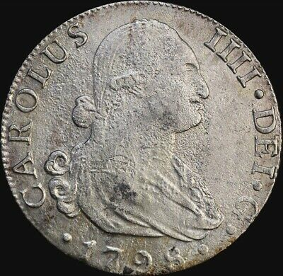 Spain 1798 Silver 8 Reales KM#432.1 ex Rapid Shipwreck about VF