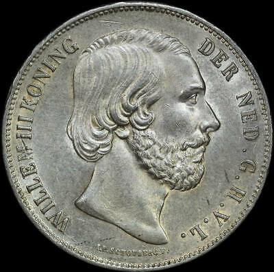 Netherlands 1858 Silver 2.5 Guilder KM#82 Uncirculated