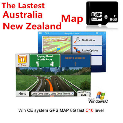Australia New Zealand 8GB GPS Maps Micro SD Card WIN CE System Navigation Device