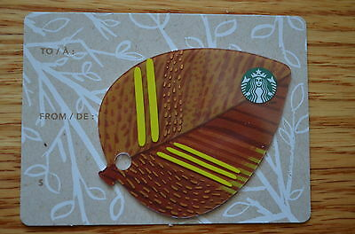"Canada Series Starbucks ""MINI LEAF - 3  2014"" Gift Card - New No Value"