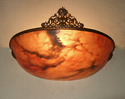 Very Rare Antique  French Alabaster And Ormolu Wall Sconce, Light 1900