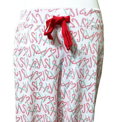 Christmas Pajama Lounge Pants Candy Canes Cynthia Rowley Stretch Knit Holiday PJ