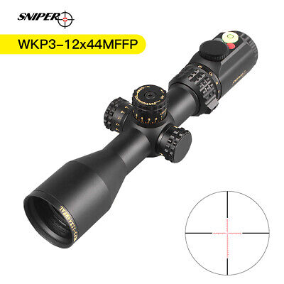 Sniper WKP 3-12x44 MSAL Scope with Red, Green Illuminated Mil-Dot Reticle with B