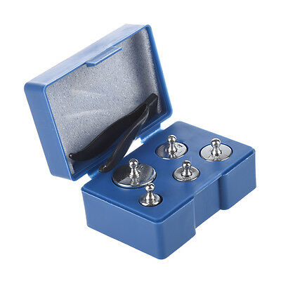 5Pcs 50G 20G 10G 5G Grams Precision Chrome Calibration Scale Weight Set Kit Hot