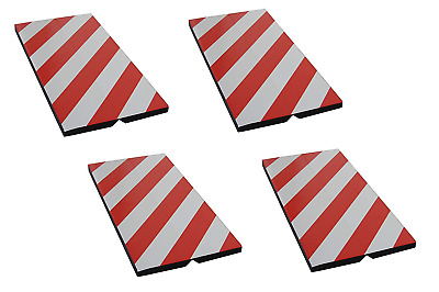 FCP4425RWx4 Self-adhesive, Corner Guards, made of Foam Rubber, to Protect Car of