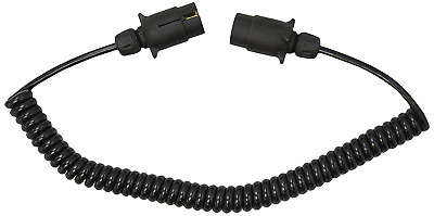 Maypole 5881A 12N 2.5m 2 x 7-Pin Curly Extension Lead