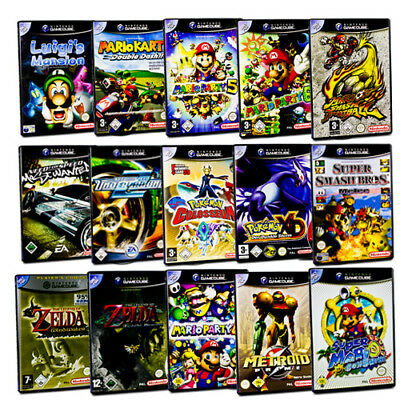 Gamecube Game Mario Sunshine Kart Party Smash Football Zelda Nfs Pokemon Luigi