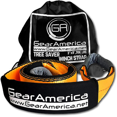 "GearAmerica Tree Saver Winch Strap 3"" X8' Heavy Duty 35,000 Lbs 17.5 Tons Towing"