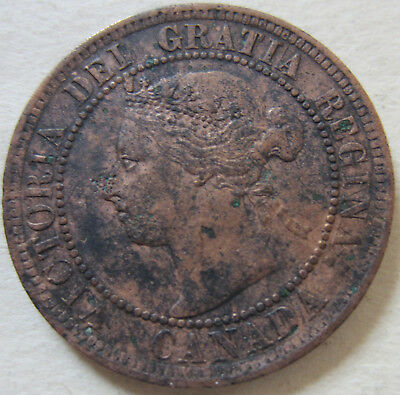 1897 Canada Large Cent Coin. NICE GRADE (RJ504)