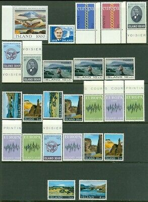 EDW1949SELL : ICELAND Nice, all Very Fine, Mint Never Hinged grouping of sets.