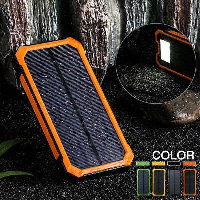 500000mAh Solar Charger Power Bank Portable Dual USB Battery Charger For Phone
