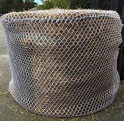 HEAVYDUTY KNOTLESS 5mm THICK 6x6 Round Bale Slow Feed Hay Net (FREE TRAILER BAG)