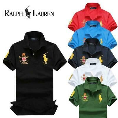Hot ralph1 lauren1 POLO Men's Casual Shirt Short Sleeve Shirts T-shirts New