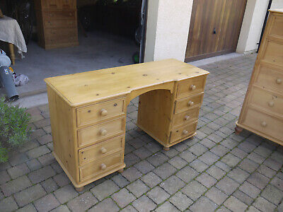Solid Pine Antique Style Dressing Table  Desk :Recently Refurbished and Rewaxed