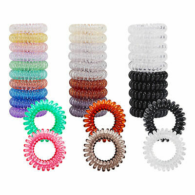 12Pcs Rubber Telephone Wire Cord Hair Ties Spiral Coil Hair Head Elastic Band JT