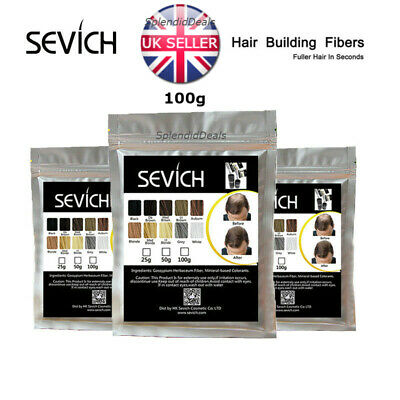 Sevich 100% Natural Hair Building Thickening Fibers Refill For Hair Loss 100g UK