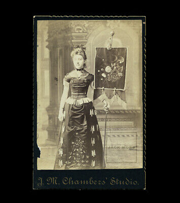 Banner Lady Holding Sign Possible HTF African American Photographer