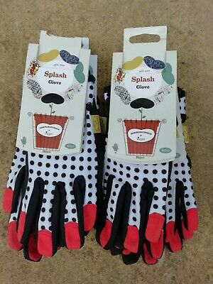 Briers Garden Gloves Hemingway Splash design size 8 Med. Six x pairs