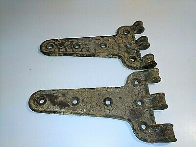 Antique cast iron hinges 12in by 7in HEAVY Very Old Decor