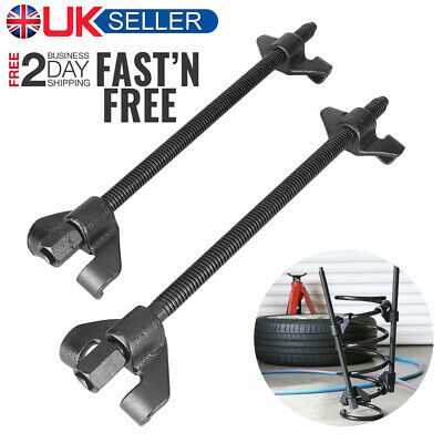 2pcs Coil Spring Compressor Heavy Duty Suspension Clamps 380mm Tool For Car UK