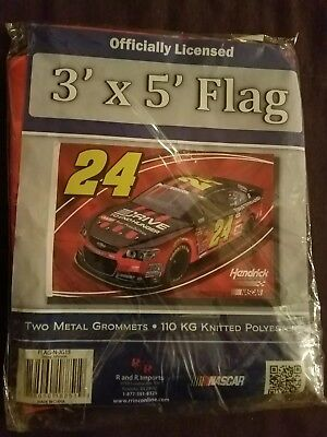 JEFF GORDON ~ Official Nascar AARP Deluxe Quality 3x5 Foot Flagpole Flag ~ New!