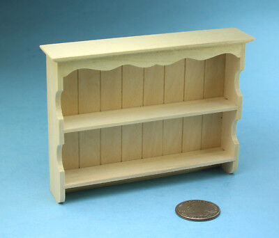 Dollhouse Miniature Decorative Wood Wall Shelves to Display Plates #SBEF139