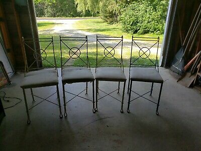 Antique Cast Iron Ice Cream Parlor Chairs