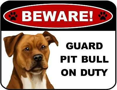 """Pit Bull Tan /""""Paws on the Windowsill/"""" A House is Not a Home Dog Sign"""