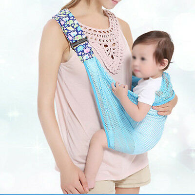 Newborn Infant Baby Newborn Wrap Sling Carrier Breathable Adjustable Front Style