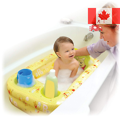 Baby Toddler  Inflatable Air Cushioned Bathtub w/ Bath Accessories Compartments