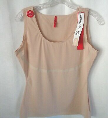 NWT! SPANX SZ L Beige Trust Your ThinStincts Nude Control Shapewear Camisole t