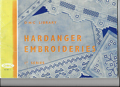 Hardanger Embroideries 1st Series DMC Library Counted Thread Cut Stitch Openwork
