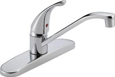 Peerless Single-Handle Kitchen Sink Faucet, Chrome P110LF