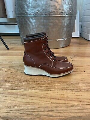 RED WING WOMEN Moc Toe 3376, Damen Schnür Boots, Leder