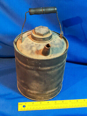 Antique VTG Can USA PATRIOTIC EAGLE PAINTED METAL 1 GALLON GAS OIL KEROSENE CAN