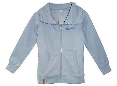 BENCH Sweatjacke Gr 164 170  hellblaugrau mel. warme Sweat Jacke Zip neu