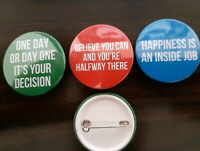 38mm x 3 Inspirational Quote button badge