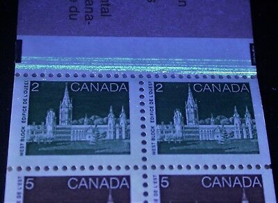 BK88b unlisted Dead paper + Tagging Smear ~ Canada Booklet Parliament Stamps
