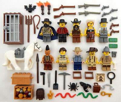 10 NEW LEGO COWBOYS & INDIANS MINIFIG LOT wild west figures guys minifigures set
