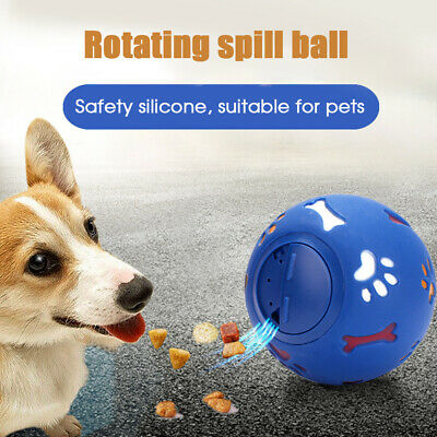 Pet Dog Cat Puzzle Fun Toy Tough-Treat Ball Mental Food Dispenser Interactive UK
