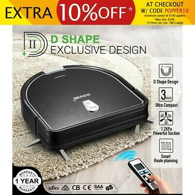 Maxkon Robot Vacuum Cleaner 1.2KPa Remote-Control Self-Charged Sweeper-Black