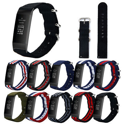 For Fitbit Charge 3 Bracelet Nylon Replacement Watch Band Wrist Strap Spare