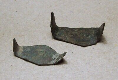 Lot of 2 Medieval Clothing Fasteners 1200's/1300's Metal Detecting Finds